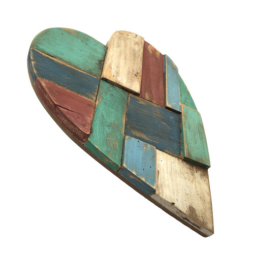 Beach Hut Wooden Heart Small