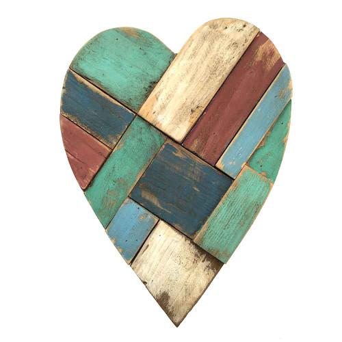 Beach Hut Wooden Heart Small