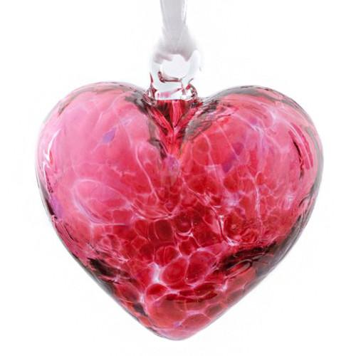 Glass Friendship Heart Pink