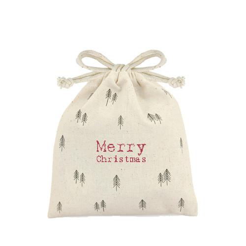Small Drawstring Merry Christmas Bag