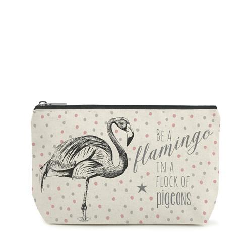 Quote Toiletry Bag 'Flamingo'