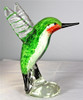 Ruby Throated Glass Hummingbird Figurine