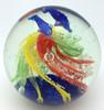 Rainbow Swirl Glass Paperweight