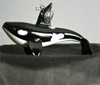 Glass Orca Whale Ornament/Blown Glass Art/Home Decor/Handcrafted