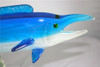 Glass Wahoo Fish/Hand Blown Glass/Handcrafted/Home Decor