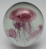 Pink Glass Jellyfish Aquarium/Handcrafted/Glow In The Dark/Home Decor