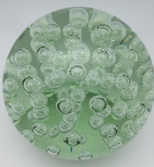 Clear Glass with Bubbles/Handcrafted/Blown Glass Art/Home Decor