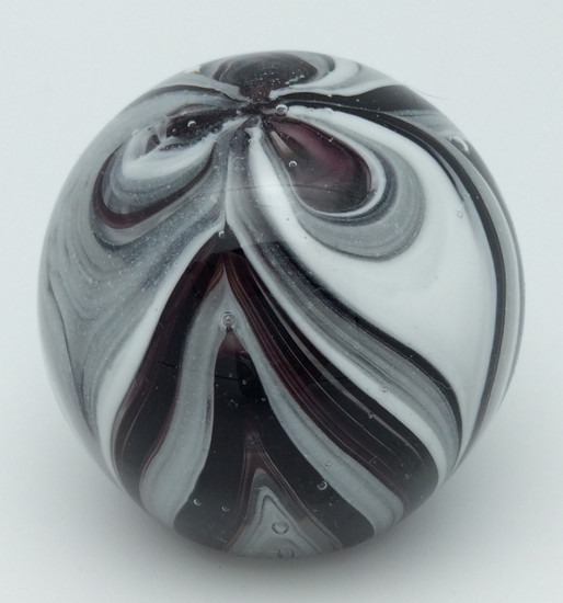 Small Paperweight - Feathers Black and White Glow
