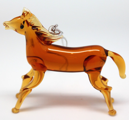 Horse Ornament/Blown Glass Art/Home Decor/Handcrafted