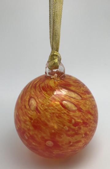 Sun Ornament/Hand Blown Glass/Glass Ornament/Home Decor