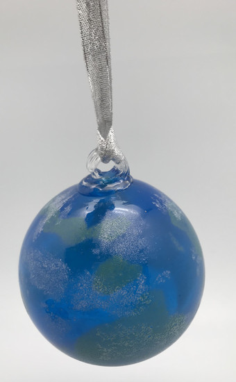Earth Ornament/Hand Blown Glass/Glass Ornament/Home Decor