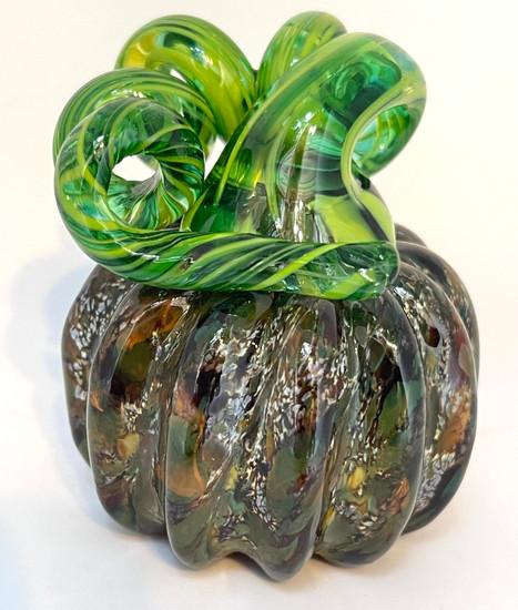 Mini Pumpkin - Multi Colored Green - Brown - White - Black