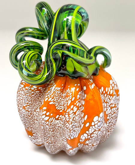 Mini Pumpkin - Orange with Speckles of White