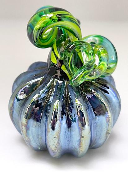 Mini Pumpkin - Blue Iridescent Multi