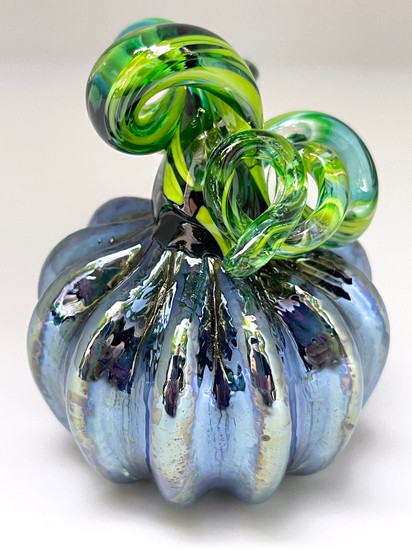Mini Pumpkin - Blue Iridescent - Multiple Colors
