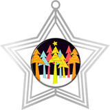 Digistock Brass Etched Ornaments - Silver Star