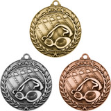 Stock Small Academic & Sports Laurel Medals - Swimming