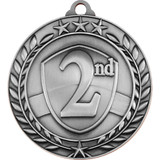 Stock Small Academic & Sports Laurel Medals - 2nd Place