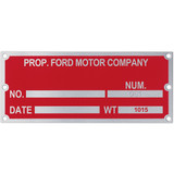 Metal Plates & Signage: 12-15 sq. in.