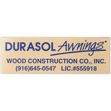 Metal Plates & Signage: 25-30 sq. in.