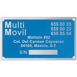 Metal Plates & Signage: 30-40 sq. in.