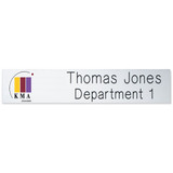 """2-Ply Plastic Desk & Wall Plate Engraved and Printed: 10"""" x 2"""""""