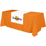 """Table Runner - (Top, 18"""" front) - All Over Dye Sub"""