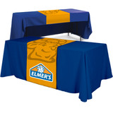 """Table Runner - (Front, Top, 12"""" Back) - All Over Dye Sub"""