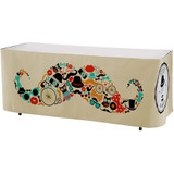 Premium Polyester, All Over Full Color Table Skirt, 3 sided, 6 foot
