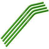 Bent Green Stainless Steel Straw Qty 4