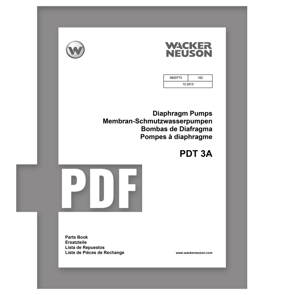 Parts Manual | PDT3A - Item: 0620773, REV 102 | Free Download - DHS