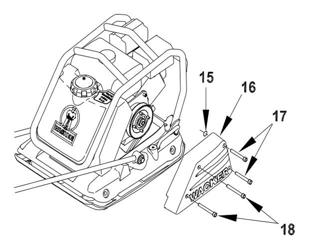 How To Wacker Neuson Wp1540 Wp1550 Drive Belt Replacement
