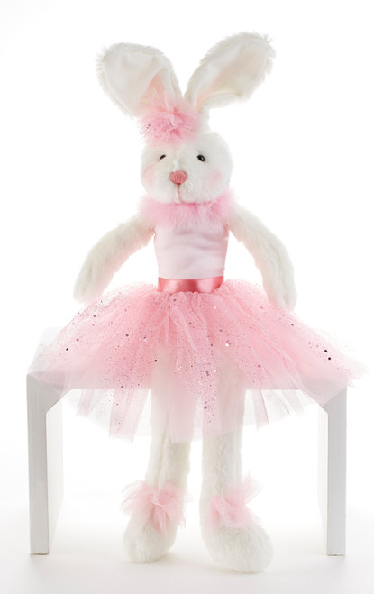 "Twinkle Pink Ballet Bunny: She's adorable and loves to dance and very proud in her ballet outfit.  Any little girl would love to have in her collection.    Includes:  1-18"" Twinkle Pink Ballet Bunny   Included as ""Build a gift Set"" option for easy shopping.    Suggestions: add to your order the ""  I love  Dance"" ballet carry-all bag 12 x 11 "" D6001-0"