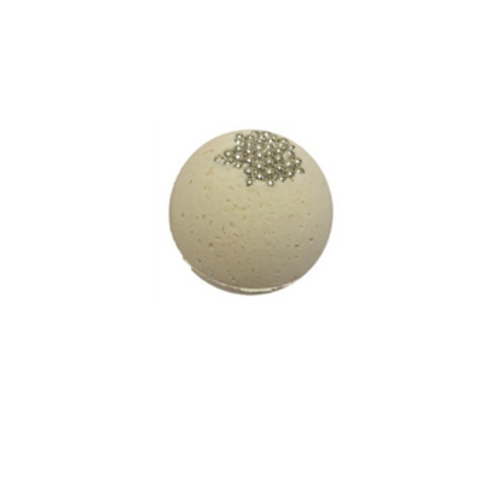 """Vanilla Caramel – Bath Bomb: Let yourself soak in a velvety warm blend of vanilla, caramel, and rich cream. Relax and enjoy the aromatherapy benefits and refresh your mind, body, and spirit.  Includes:  1-5oz 2.25"""" Diameter bath bomb  Ingredients: Sodium Bicarbonate, Citric Acid, Epsom Salt, Coconut Oil, Fragrance, Aqua, Polysorbate 80, FD&C Colorant."""