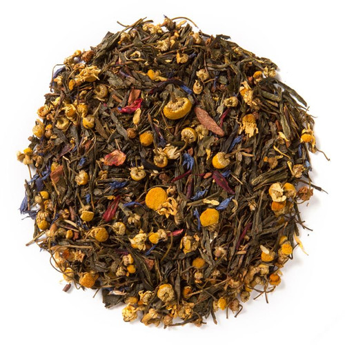 Green Tea Garden (Loose Leaf) combines cinnamon and chamomile with a base of delicate green tea.  Ingredients: Organic black tea, organic rose petals and natural flavor.  Taste: Carries an exotic flavor with floral undertones and a cinnamon spice finish.  Origin: Green Tea Garden loose leaf blend is sourced from China.