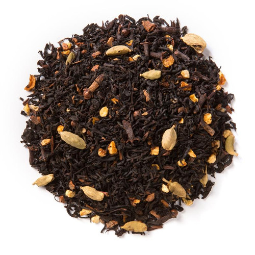 Mandarin Chai with Anise combines robust herbs and spices with a full-bodied black tea base.  Ingredients: Organic black tea, organic cinnamon, organic cloves, organic cardamom, organic orange peel, natural flavor and organic anise seed  Taste: Mandarin Chai with Anise is a sweet and spicy brew with tropical undertones and a licorice-like finish.  Origin: Sourced from family tea gardens in the Darjeeling and Assam regions of India's Banaspaty Tea Estate.