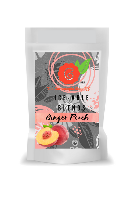 Ginger Peach(Loose Leaf) combines fresh ginger and the essence of sun-ripened peaches with a base of organic black tea.  Ingredients: Organic black tea, organic ginger root, organic black pepper and natural flavor.  Taste: Afull-bodied black tea brew with a refreshing, fruity zing of a finish.  Origin: Sourced from family tea gardens in the Darjeeling and Assam regions of India's Banaspaty Tea Estate.