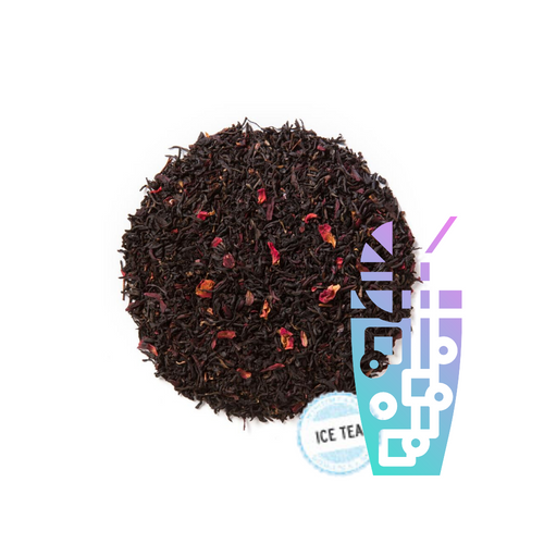 Strawberry Essence (Loose Leaf) combines organic black tea with a splash of sweet strawberry nuance.  Ingredients: Organic black tea, organic hibiscus, natural flavor and organic rose petals. Taste: A full-bodied black tea brew with a fruity finish.  Origin: Sourced from family tea gardens in the Darjeeling and Assam regions of India. Also great iced!