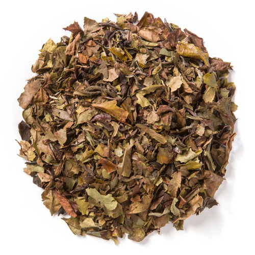 White Peony (Loose Leaf) is a delicate, crisp white tea known for its neutral, nut-like character.  Ingredients: Organic white tea.  Taste: offers a smooth, chocolatey base with a fragrant, floral finish.  Origin: organic White Peony (Loose Leaf) tea from ZhengHe County in the Fujian Province of China. The tea farm is located high on the mountain and is covered by the surrounding forest in the area.
