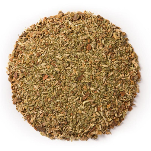 Laxative- Wellness Tea (loose Leaf) Ayurvedic Infusion is meant to establish regularity and soothe any imbalances that may result in an aggravated colon.  Ingredients: Organic fennel seed, organic senna leaf, organic triphala, organic flax seed, organic cinnamon bark, organic ginger root and organic licorice root.  Taste: an earthy blend with a ginger, cinnamon finish.  Cornucopia's Tea line of organic Ayurvedic Infusions aims to promote balance between the mind, body and spirit. These adaptogenic tea blends are meant to align the inner elements and forces of the body, to the outer elements and forces of the universe.