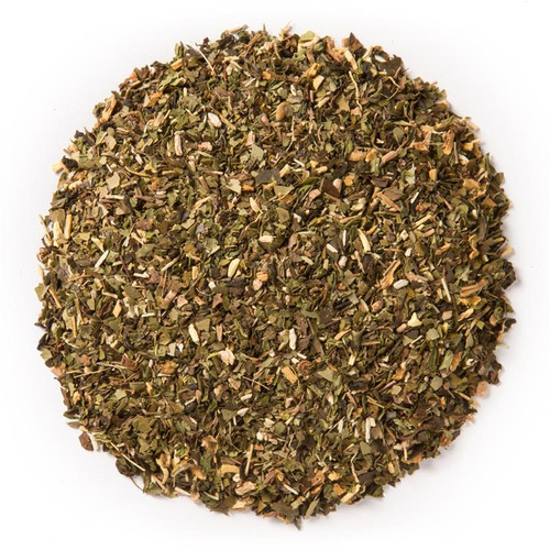 Energize- Wellness Tea (loose Leaf) Ayurvedic Infusion is meant to boost energy levels and provide balanced rejuvenation.*  Ingredients: Organic yerba mate leaf, organic green tea leaf, organic ashwagandha root, organic guayusa leaf, organic spearmint leaf, organic gotu kola leaf, organic licorice root and natural flavor.  Taste: a fruity blend with a robust, earthy base.  Cornucopia's Tea line of organic Ayurvedic Infusions aims to promote balance between the mind, body and spirit. These adaptogenic tea blends are meant to align the inner elements and forces of the body, to the outer elements and forces of the universe.