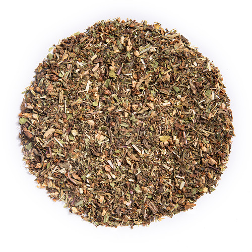 Immunity - Wellness Tea (loose Leaf) Ayurvedic Infusion aims to support your immune system and balance your ojas energy.*  Ingredients: Organic Amalaki, Organic Echinacea Herb, Organic Burdock Root, Organic Spearmint, Organic Ginger Root, Organic Tulsi, Organic Guduchi, Organic Lemongrass, and Organic Ashwagandha.  Taste: lemon-forward blend with a minty finish  Cornucopia's Tea line of organic Ayurvedic Infusions aims to promote balance between the mind, body and spirit. These adaptogenic tea blends are meant to align the inner elements and forces of the body, to the outer elements and forces of the universe.