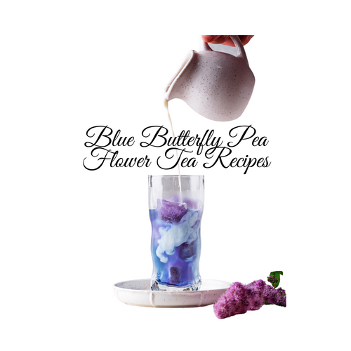 An amazing tea in so many ways! This tea blend is composed of blue pea flowers, imparts a blue color in the cup when steeped in hot water. Add lemon juice and watch for hues of purple, turn to enchanting emerald green!   For Two Iceable Servings: Boil 2 cups of water just before boiling point.  In a Tea press add ¼ cup of Blue butterfly pea flower tea blend.  Pour the hot water into the Tea press add sugar optional this point and let infuse for 5-10 minutes.   Fill two tall glass tumblers with ice and fill with tea add almond milk, honey. Stir and enjoy!   1 Cup Hot Brew:  Boil one cup of filtered water. Place a perfect cup of Tea Scoop full of tea in your Tea press add Cornucopia's granulated Tea Sugar. Fill press with boiling water, place your lid on the press and let brew for 5 mins.  Press the tea plunger down to push loose leaf tea to the bottom of the press, serve and enjoy!