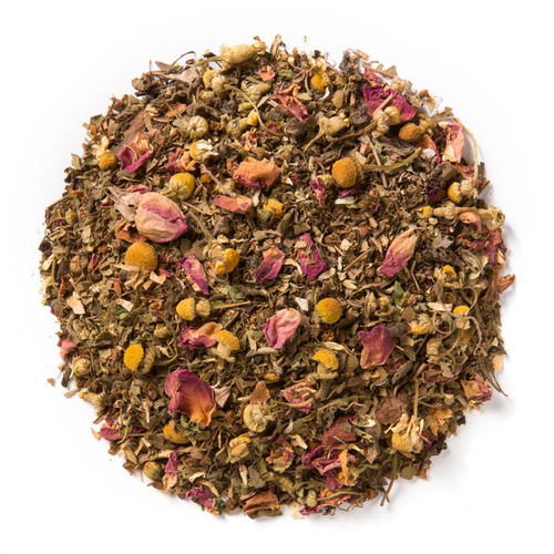Tulsi Rose Petals (Loose Leaf) combines rose and chamomile flowers with three adaptogenic varieties of Tulsi (Krishna, Rama, and Vana).  Ingredients: Organic tulsi, organic chamomile, organic lemon myrtle, organic rose petals, natural flavors, and organic stevia.  Taste:Organic tulsi, organic chamomile, organic lemon myrtle, organic rose petals, natural flavors, and organic stevia.  Origin: organic tulsi from India.