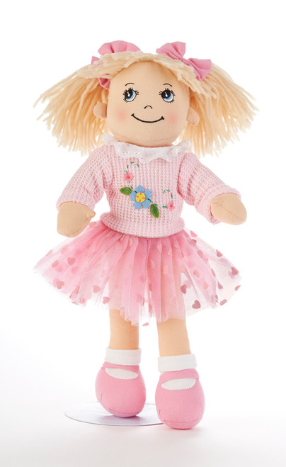 "14"" Apple Dumplin Pink Tutu Doll: She's all dressed up in her prettiest play dress of pastel Pink Tutu skirt with matching sweater, and pink shoes.  A bit of sunshine sure to make any little girl happy, and best of all she's so ready to come to tea!    Includes:  1- 14"" Apple Dumplin Doll"