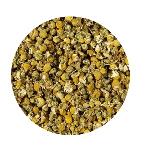 Chamomile is commonly known as the kind of tea which you drink when you are suffering from a cold and lying in bed with a scarf around your neck. Being mild and caffeine free, this dried blossom makes a very appropriate drink in every season. People also like using it to pamper their skin in the vapor of a hot chamomile bath. We are offering a chamomile of very high quality.  The larger and optically more conspicuous Roman chamomile has a similar taste but is preferred for decoration purposes. Chamomile has been used since the Neolithic Age.   10 minutes  203-212 °F  2-3 level tsp./6 oz serving  Ingredients: Chamomile  Taste: The typical chamomile character of this infusion is particularly intense. The product is very even, small pieces have been sorted out by handpicking.
