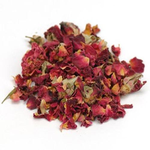 Red Rose Buds: Whole pieces and petals  Latin Name:Rosa centifolia The highest quality of Organic Red Rose Petals and Red Rose Buds and Petals, also known as Rosa centifolia, often used for their aromatic properties and sutle rose flavor. Food grade for all cullenary use. Ingredients: Red Rose Petals; Red Rose Buds and Petals  Taste: Soft suttle flavor of rose and aroma from just a pinch in your favorite tea to make your own special blend.  Can also be used in homemade potpourri, beauty products, oils, and soaps.