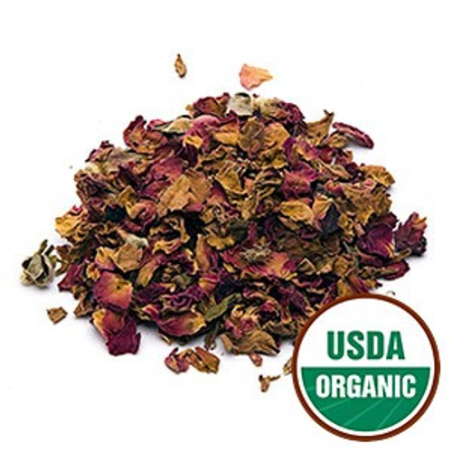 Organic Red Rose Buds: Whole pieces and petals  Latin Name:Rosa centifolia The highest quality of Organic Red Rose Petals and Red Rose Buds and Petals, also known as Rosa centifolia, often used for their aromatic properties and sutle rose flavor. Food grade for all cullenary use. Found in our infused Rose sugar.  Ingredients: Red Rose Petals; Red Rose Buds and Petals  Taste: Soft suttle flavor of rose and aroma from just a pinch in your favorite tea to make your own special blend.  Can also be used in homemade potpourri, beauty products, oils, and soaps.