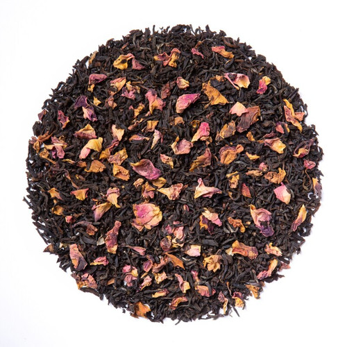 Black Rose Tea (Loose Leaf)  Limited Edition by The Cornucopia's Tea Shop. Seasonal Halloween Label is a fun way to enjoy a traditional Black Assam Tea with rose petals  Cornucopia's Black Rose Tea combines our full-bodied organic black tea with fragrant rose petals.  Ingredients: Organic black tea, organic rose petals and natural flavor. Taste: Black Rose (Loose Leaf) is a full-bodied black tea brew with a floral finish.  Origin: Organic black tea is sourced from family tea gardens in the Darjeeling and Assam regions of India