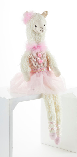 "Sitting Pink Bella Llama: She's ready to sit on your bed and is as cute as a button.  A perfect tea party companion!   She's just waiting to be invited to Tea!    Includes:  1-19"" Sitting Pink Bella Llama"